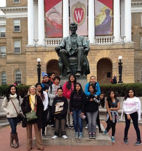 Middle school students discover the cartonera movement while visiting UW-Madison. (photo courtesy Madison Metropolitan School District