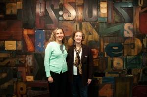 Nancy Graff Schultz and Tracy Honn visit Hamilton.