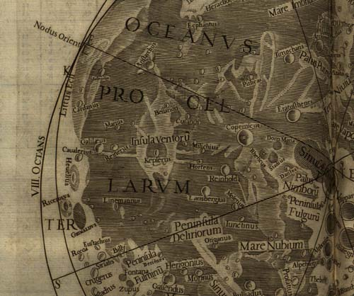 detail of octant VIII from the moon map in Riccioli's Astronomia reformata (1665)