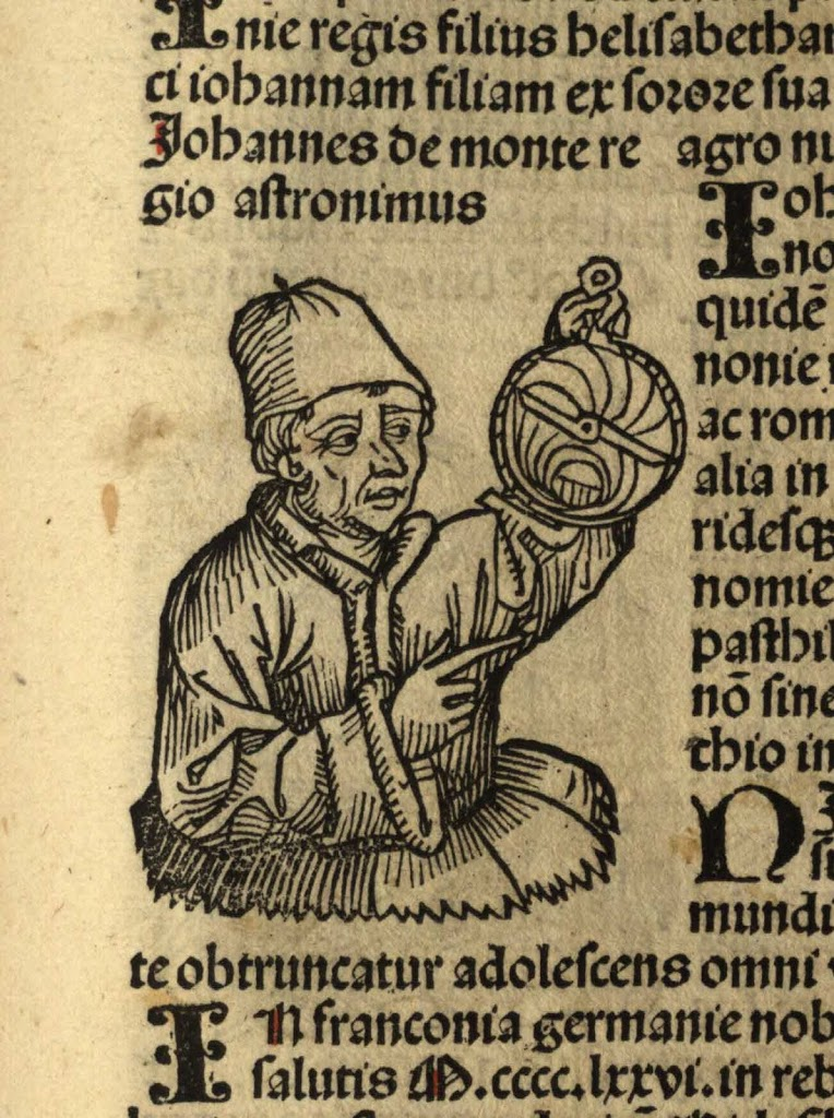 portrait of Regiomontanus, from Hartmann Schedel, Liber chronicarum (1493), Special Collections, Memorial Library, University of Wisconsin-Madison