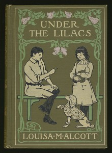 Cover of the 1905 edition of Louisa M. Alcott's Under the lilacs. Image from the digital collection Publishers Bindings Online, 1815-1930. University of Wisconsin Digital Collection.