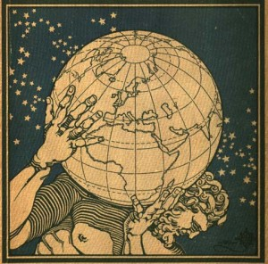 Cover of Atlante geografico metodico (Novara: Istituto geografico de Agostini, 1927). Department of Special Collections, Memorial Library, University of Wisconsin-Madison.