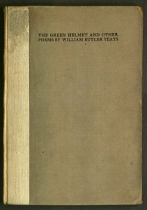 Front cover, William Butler Yeats, The green helmet and other poems (Cuala Press, 1910). From the Private Press Collection, Department of Special Collections, Memorial Library, University of Wisconsin-Madison.