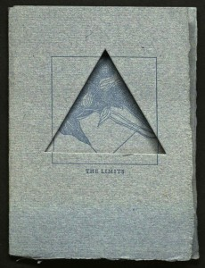 Cover of The limits (Black Mesa Press). From the Private Press Collection, Department of Special Collections, Memorial Library, University of Wisconsin-Madison.
