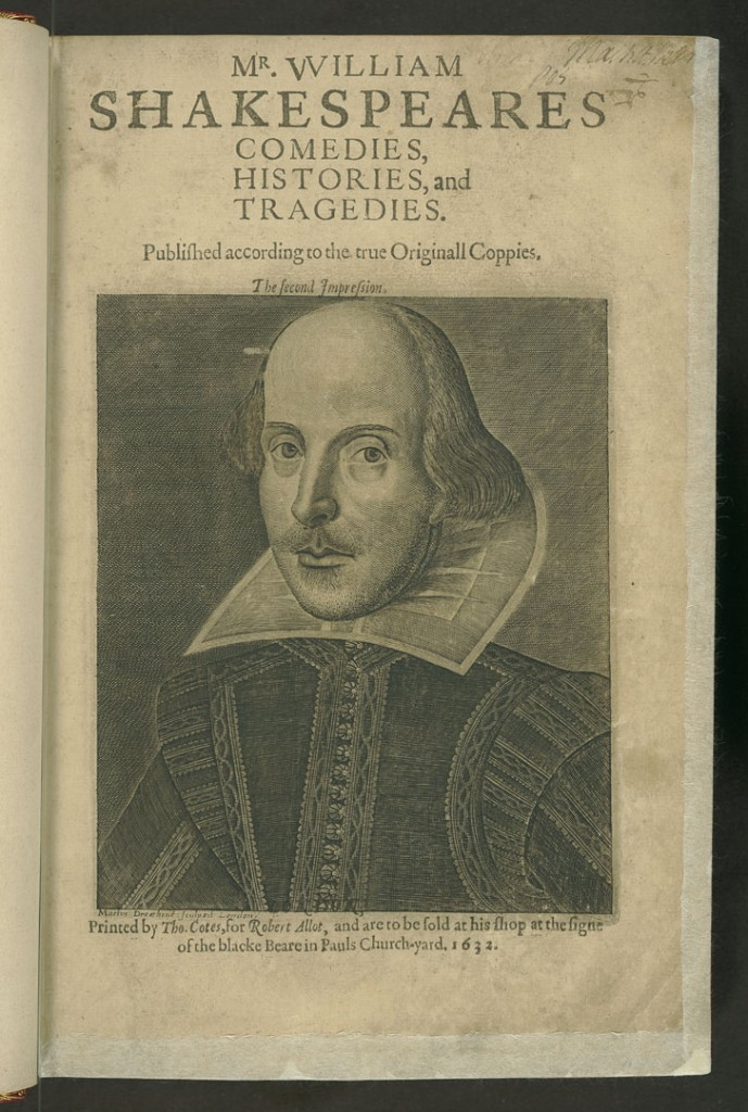 Title page of the Second Folio. From the Second Folio, Department of Special Collections, Memorial Library, University of Wisconsin-Madison.