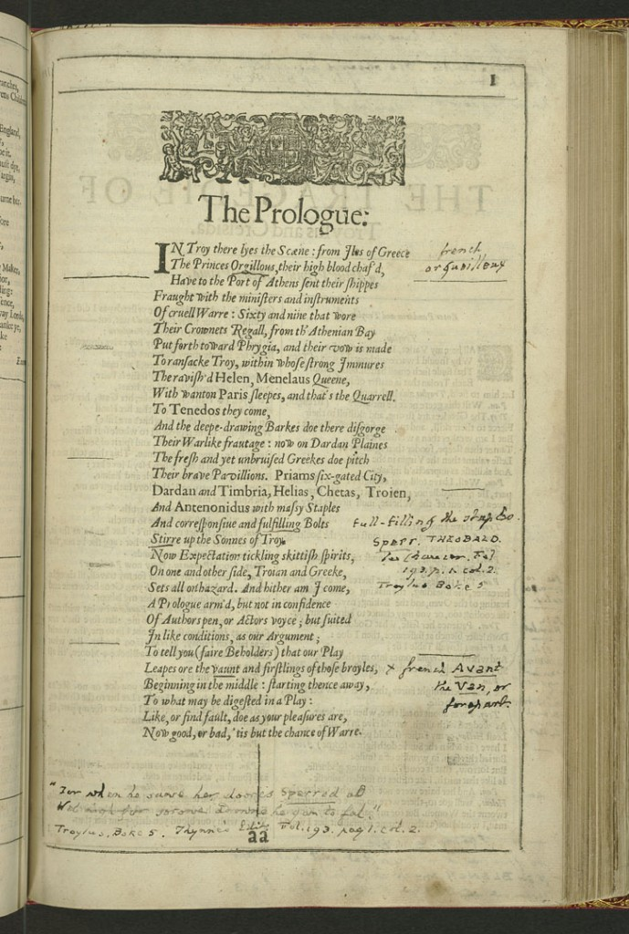 Page 1 of the Tragedies. Most of Tooke's annotations occur in this play.