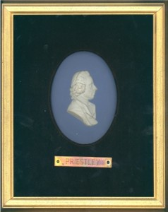 Wedgwood plaque of Joseph Priestley. Department of Special Collections, Memorial Library, University of Wisconsin-Madison.