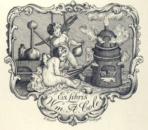 Bookplate of the William A. Cole collection.