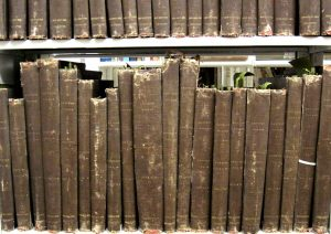 Bound volumes from the Edwin Hadley Smith collection within the Library of Amateur Journalism Collection.