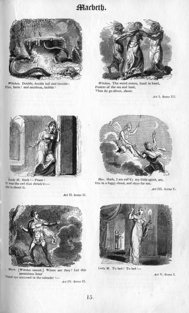 Scenes from Macbeth as illustrated by Thurston (1826).