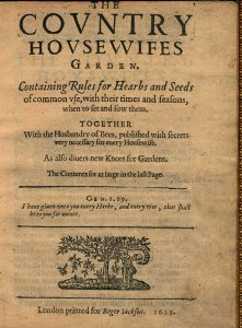 Lawson, Country houswifes garden (1623).