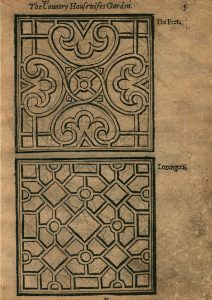 One of several pages of garden design in Lawson's work.