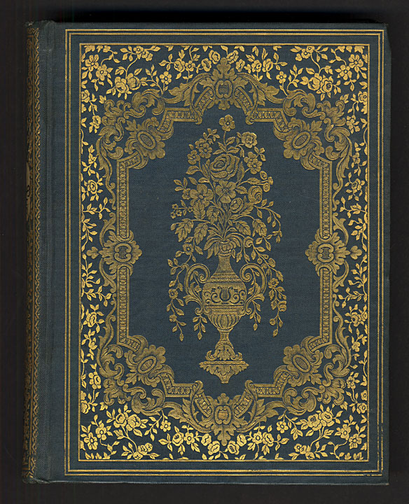 Cover of Christmas blossoms, and New Year's wreath (Boston, 1851). From the Department of Special Collections, Memorial Library, University of Wisconsin-Madison.
