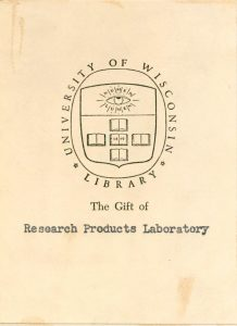 The Gift of the Research Products Laboratory