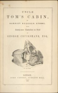 Title page for a London edition (1852), as illustrated with wood engravings by George Cruikshank.