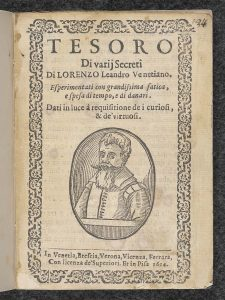 Title page of Tesoro di varii secreti.
