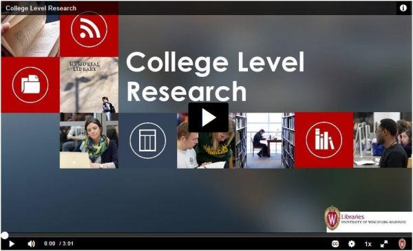 Screenshot of tutorial video
