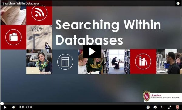 Screenshot of video tutorial